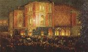arthur o shaughnessy outide the bayreuth festspielhaus oil painting