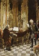 franz schubert a romanticized artist s impression of bach s visit to frederick the great at the palace of sans souci in potsdam oil painting picture wholesale