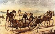 franz von schober schubert is walking behind the carriage oil painting picture wholesale