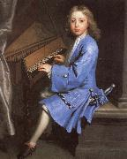 samuel pepys an 18th century painting of young man playing the spinet by jonathan richardson Spain oil painting reproduction