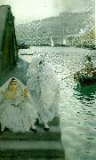 Anders Zorn i algers hamn oil painting reproduction