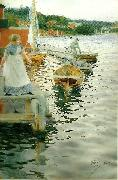 Anders Zorn vagskvalp oil painting reproduction