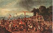 BRUEGHEL, Pieter the Younger Crucifixion oil