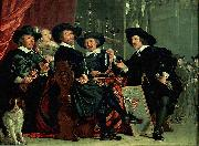 Bartholomeus van der Helst Governors of the archers' civic guard, Amsterdam Spain oil painting artist