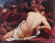 CARRACCI, Annibale Bacchantin, Detail oil painting reproduction