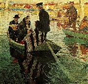 Carl Wilhelmson kyrkfolk i bat oil
