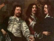 DOBSON, William The Painter with Sir Charles Cottrell and Sir Balthasar Gerbier about oil painting artist