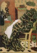 Edouard Vuillard Table of the mother and daughter oil painting reproduction
