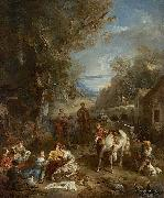 Francois Lemoyne Picnic During the Hunt oil painting artist