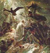 Girodet-Trioson, Anne-Louis Ossian receiving the Ghosts of the French Heroes oil painting artist