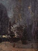 James Abbot McNeill Whistler Night in Black and Gold, The falling Rocket oil painting artist
