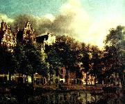Jan van der Heyden kanal i amsterdam oil painting reproduction