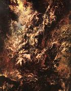 RUBENS, Pieter Pauwel Fall of the Rebel Angels oil painting reproduction