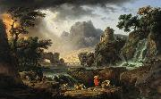Claude-joseph Vernet Mountain Landscape with Approaching Storm oil