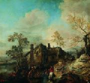 Cornelis van Dalem Landscape with Farmhouse oil painting artist