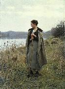Daniel Ridgway Knight The Shepherdess of Rolleboise oil painting