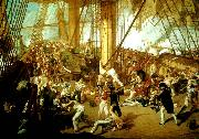 Denis Dighton the battle of trafalgar oil painting artist