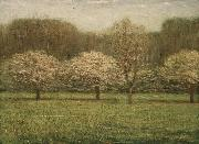 Dwight William Tryon Apple Blossoms oil painting