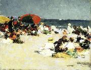 Edward Henry Potthast Prints On the Beach oil painting artist