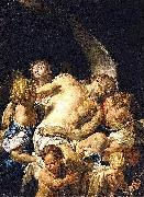 Francesco Trevisani Dead Christ Supported by Angels oil painting
