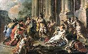 Francesco de mura Horatius Slaying His Sister after the Defeat of the Curiatii oil painting artist