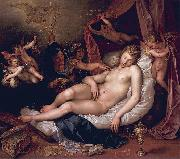 Hendrick Goltzius Sleeping Danae Being Prepared to Receive Jupiter oil painting artist