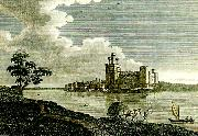 J.M.W.Turner caernarvon castle from picturesque oil painting reproduction