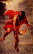 Jan Cossiers Prometheus Carrying Fire oil painting artist