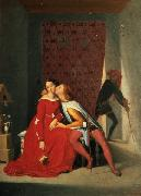 Jean Auguste Dominique Ingres Gianciotto Discovers Paolo and Francesca Spain oil painting artist