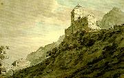 John Robert Cozens south gate of sargans oil painting artist