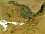 John Ruskin the pass of faido on the st gotthard oil painting artist