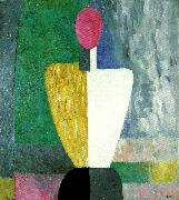 Kazimir Malevich half figure with a  pink face oil painting reproduction