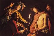 Matthias Stomer Christ Crowned with Thorns oil painting artist
