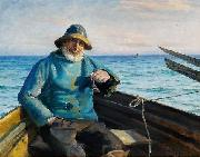 Michael Ancher Fisherman from Skagen oil painting reproduction