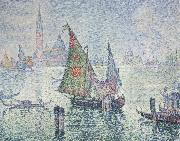 Paul Signac green sail Spain oil painting artist