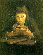Sir Joshua Reynolds boy reading Spain oil painting reproduction