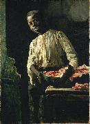Thomas Hovenden I Know'd It Was Ripe oil painting artist
