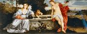 Titian Sacred and Profane Love oil painting reproduction