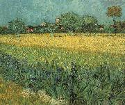 Vincent Van Gogh View of Arles with Irises in the Foreground Spain oil painting artist