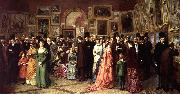 William Powell Frith A Private View at the Royal Academy oil painting artist