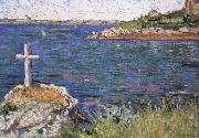 impressionist painter the mariners cross at high tide oil