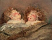 unknow artist Rubens Two Sleeping Children Spain oil painting reproduction