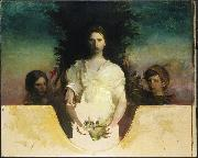 Abbott Handerson Thayer My Children oil