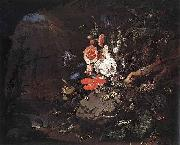 Abraham Mignon The Nature as a Symbol of Vanitas oil painting