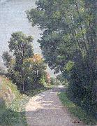 Adrien Lavieille Route de terre oil painting