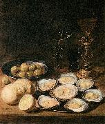 Alexander Adriaenssen with Oysters oil