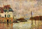 Alfred Sisley L Inondation a Port Marly oil painting reproduction
