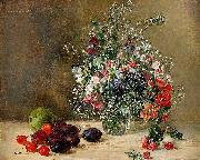 Anna Munthe-Norstedt Still Life with Flowers and Fruits oil painting artist
