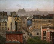 Antonin Chittussi Paris as Viewed from Montmartre oil painting