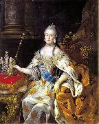 Antropov, Aleksei Portrait of Catherine II Spain oil painting artist